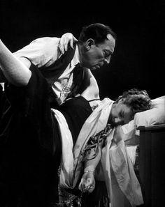 Magnum Photos - FRANCE, Paris Medrano circus, Buster Keaton and his wife 1952.