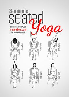 Seated Yoga Workout - great for a quick lunch time calming office work out. Plus good for the posture too.