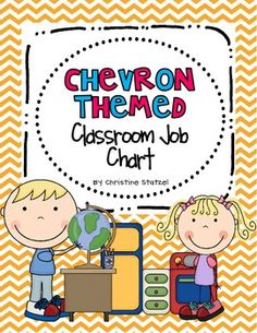 Chevron Themed Classroom Job Chart