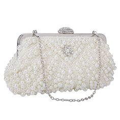 78c27e0a5bc Women's Lace Floral Clutches Evening Bags Purse for Wedding Party Bridal  Handbags - P2-white - CU182QC48MN