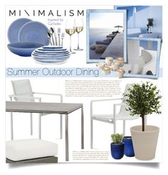 """""""summer outdoor dining"""" by ailav9 ❤ liked on Polyvore featuring interior, interiors, interior design, home, home decor, interior decorating, Blu Dot, Cane-line, Emissary and Nearly Natural"""