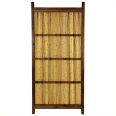 Oriental Furniture 6' x 3' Kumo Fence ($269) ❤ liked on Polyvore featuring home, outdoors, outdoor decor, oriental garden decor, black panel, outdoor garden decor, asian garden decor and garden decor