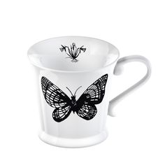 370ml Creative Mugs Bone China Coffee Black Tea Cups Milk Mug Ceramic Pottery and Porcelain Afternoon Tea Cup Butterfly tankard #Affiliate