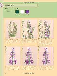 How to paint lavender from Donna Dewberrys Essential One-Stroke Painting Reference