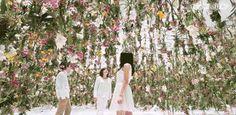 Floating Flower Garden - installation by team-lab