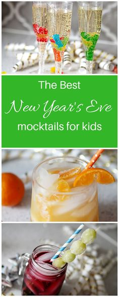 These kid-friendly mocktails are perfect for New Year's Eve and will help you to say hello to the new year in a bright and festive way.