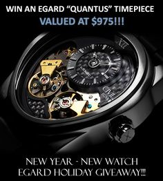 Enter the New Year - New Watch Holiday Giveaway from EGARD Watches! Canadian Contests, Yacht Week, Holiday Wishes, Luxury Watches For Men, Giveaways, Stuff To Buy, Conformity, Pbteen, Canada