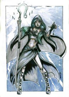 Sorceress by Blaszczecart