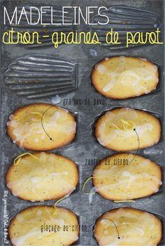 Un mélange que l'on retrouve beaucoup dans la pâtisserie en ce moment, c'est l'association citron/graines de pavots. J'ai donc adaptéla recette des madeleines de Benoît MOL…