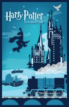 Harry Potter Series Posters 1&2 on Behance