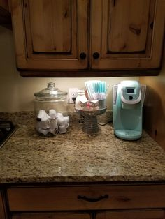 My awesome keurig coffee station!! Sunflowerblossombenchgoats@yahoo.com