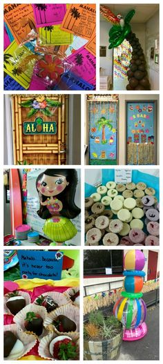 The parents at our school went all out during this year's Teacher Appreciation Week Aloha Style. Mahalo was the theme of the week! Appreciation Message, Employee Appreciation Gifts, Volunteer Appreciation, Teacher Appreciation Week, Teacher Gifts, Teacher Stuff, Luau Theme, Hawaiian Theme, My Favourite Teacher