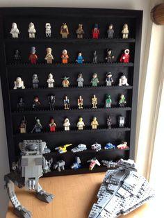 Lego Mini Figures Display #toy #storage #organization #woodworking