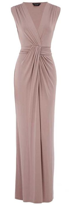 Dorothy Perkins >> Taupe Knot Maxi Dress