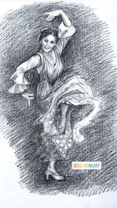 Flamenco dancer drawing Dancer Drawing, Flamenco Dancers, Original Artwork, Watercolor, The Originals, Drawings, Movies, Movie Posters, Women