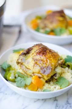Chicken Tagine with Citrus CousCous - use quinoa instead of couscous
