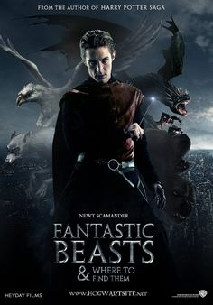 """magical beasts and where to find them movie trailer   Fantastic Beasts and Where to Find Them"""" is in development. IM SO EXCITED!!!!!!"""