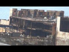 Genova, demolizione Costa Concordia: resta solo lo scheletro