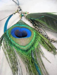 Peacock feather I have these earrings:)