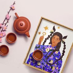 Taurus Serving Tray by fifikoussout Taurus, Astrology, Serving Trays, Frame, Store, Home Decor, Picture Frame, Decoration Home, Room Decor