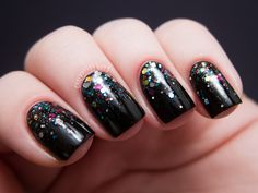 Chalkboard Nails art #nails  #polish  #glitter  #bornprettystore  #bling