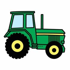 Cute John Deere truck for party decorations or invitations!