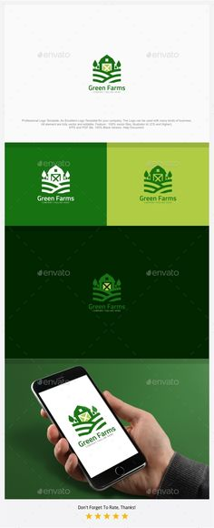 Green Nature Farm Logo — EPS Template