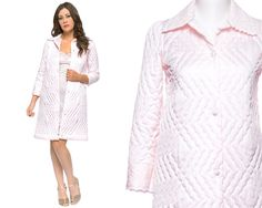 70s Robe Soft Pink Quilted Christian Dior by GravelGhostVintage, $42.00