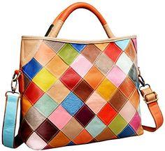 Heshe Womens Multicolor Shoulder Bag Hobo Tote Handbag Cross Body Purse Colorful2B4029 ** Click image for more details.