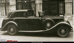The Maharaja of Rajpipla purchased the impressive Phantom III 1937 (chassis no. 3-BU-198), his final Rolls-Royce, fitted with Windovers sedanca coachwork (body no. 56), specified with a radio and 'Philco Rola' loud speakers; Marchal headlamps.