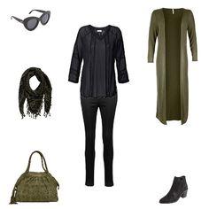 Khaki & Pailletten http://www.aboutyou.de/inspiration/figurtyp_outfits-510 Figurtyp O