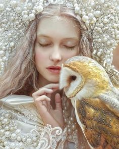 "7,708 Likes, 89 Comments - A.M Lorek Photography (@agnieszka_lorek) on Instagram: ""My fantasy portrait •love to Nature• with @olaszkolda model❤️ & owl in costume from @agnieszkaosipa…"""