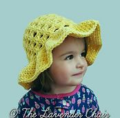 Free pattern Lazy Daisy Floppy Sun Hat (infant-toddler-child) - Free Crochet Pattern - The Lavender Chair Crochet Yarn, Crochet Hooks, Free Crochet, Beaded Crochet, Crochet Flower Patterns, Crochet Flowers, The Lavender Chair, Sombrero A Crochet, Floppy Sun Hats