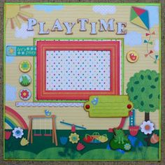 "Momenta Design Team Project - ""Play Time"" 12x12 Single Layout 