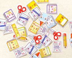 School Planner Stickers. Back to School Sticker. by BeagleCakesArt