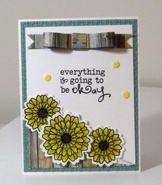 Card by Kalla Walla using Be Okay and Button Best from Verve.  #vervestamps