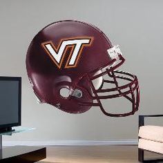 Fathead Virginia Tech Hokies Helmet Wall Graphic