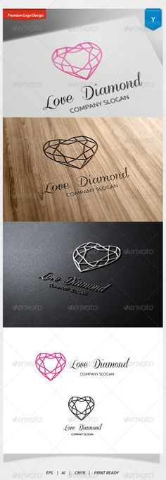 Love Diamonds Logo #GraphicRiver Logo Template Features 1. Excellent logo,simple and unique. 2. Fully editable with .eps 10 format 300 PPI CMYK. 3. Fully editable with AI file format 4. This Logo use free font you can read more detail in help file document. Created: 3July13 GraphicsFilesIncluded: VectorEPS #AIIllustrator Layered: No MinimumAdobeCSVersion: CS Resolution: Resizable Tags: accessory #acoustic #beautiful #beauty #coding #cosmetic #diamond #family #fashion #girls #