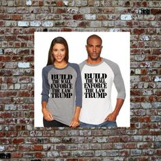 This item is unavailable Build The Wall Trump, Republican Shirts, Trump Building, Trump Hair, Trump Shirts, Patriotic Shirts, Yoga Tank, Gym Shirts, Cricut Creations