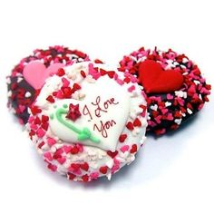 ✝☮✿★ LOVE COOKIES ✝☯★☮ All Floral Heart Chocolate Covered Cookies