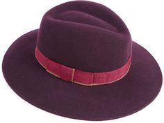 ShopStyle: Felt Fedora With Contrast Band