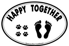 Happy Together - Oval Magnet