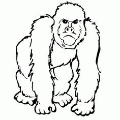 free gorilla printable coloring pages for preschool