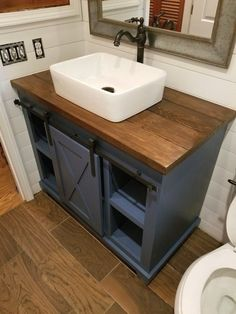 Bathroom decor for your master bathroom renovation. Discover master bathroom organization, bathroom decor suggestions, bathroom tile ideas, bathroom paint colors, and more. Diy Bathroom Vanity, Small Bathroom Vanities, Wood Bathroom, Bathroom Furniture, Bathroom Interior, Bathroom Ideas, Bathroom Cabinets, Bathroom Organization, Master Bathrooms
