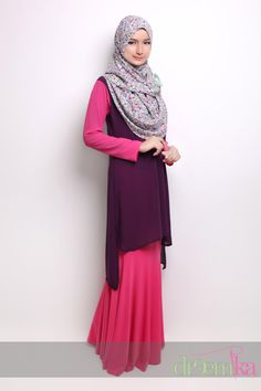 Hanna #Hijab Dress - hi lo inspo, over a jersey maxi dress, to hide the 'cling'.