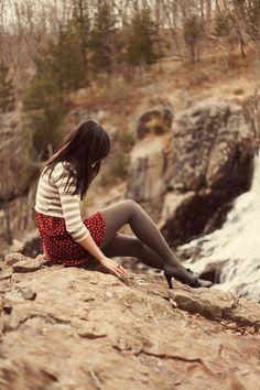 Brick-red-polka-dot-sammydress-dress-beige-striped-asos-sweater