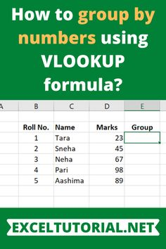 This function is used at the time when we have to categories our data into some systematic order like groups. Microsoft Excel, Workshop Layout, Data Analytics, Data Science, Big Data, Ms, Numbers, Technology, Group