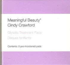 Brand New Meaningful Beauty Glycolic Treatment Pads