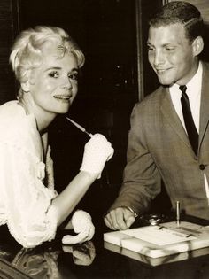 Our publisher's dad and actress, Marie Wilson at The Goldman Hotel (now The Wilshire Grand) in West Orange, New Jersey c.1955.