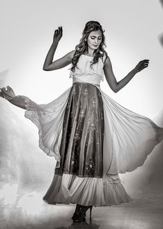 Beautiful indo western gown with contemporary silhouettes from AO by Anita Ojha